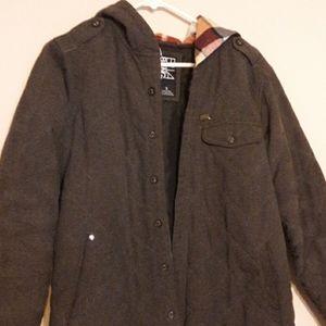 Billabong Jacket Dark Gray Plaid